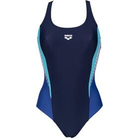 arena Threefold V Back One Piece Swimsuit Women, blu